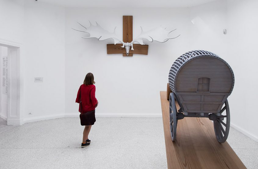 Fabian Fröhlich, Biennale di Venezia, 2019, Giardini, US Pavilion, Martin Puryear, Liberty (Hibernian Testosterone / New Voortrekker)
