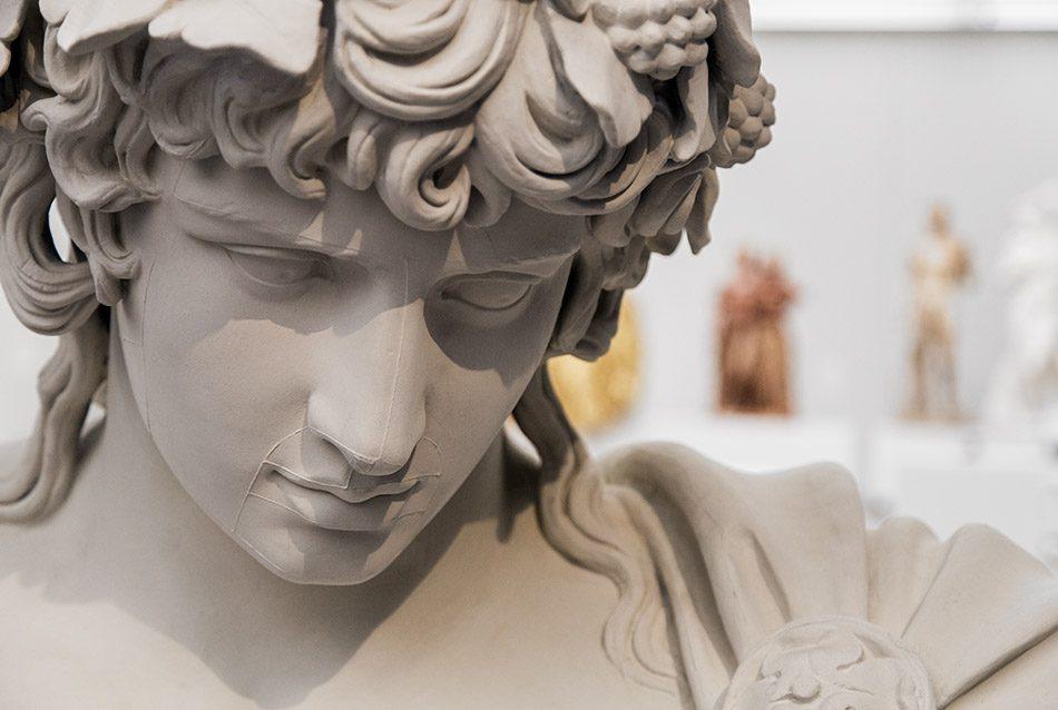 Ausstellung Nah, am Leben, 200 Jahre Gipsformerei, James-Simon-Galerie, Antonoos Braschi