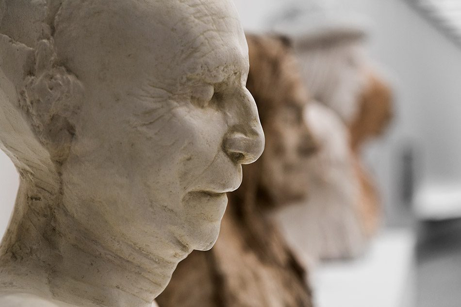 Ausstellung Nah, am Leben, 200 Jahre Gipsformerei, James-Simon-Galerie, Totenmaske Filippo Bruneleschi