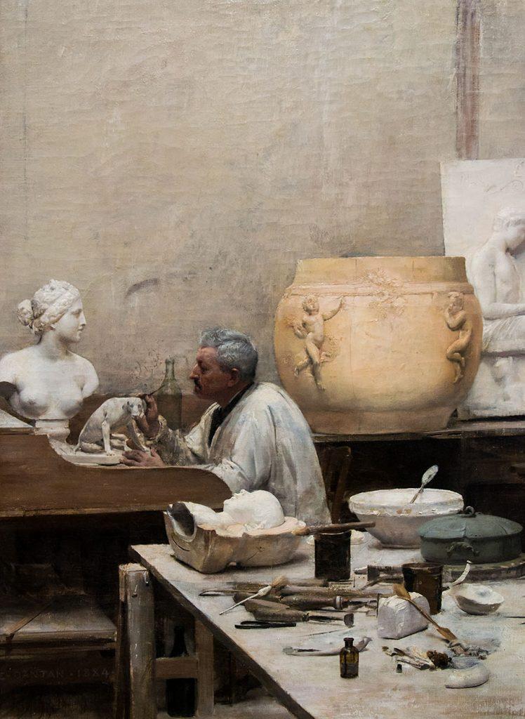 Ausstellung Nah, am Leben, 200 Jahre Gipsformerei, James-Simon-Galerie,  Eine Gipsformerwerkstatt