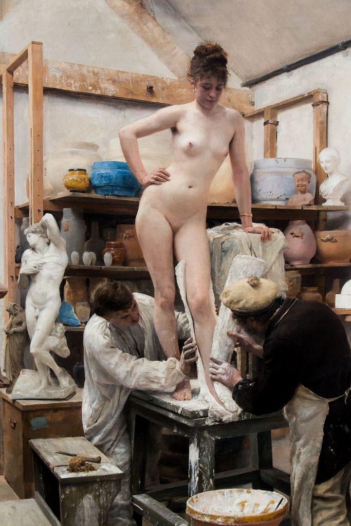 Ausstellung Nah, am Leben, 200 Jahre Gipsformerei, James-Simon-Galerie, Édouard Joseph Dantan, Un moulage sur nature