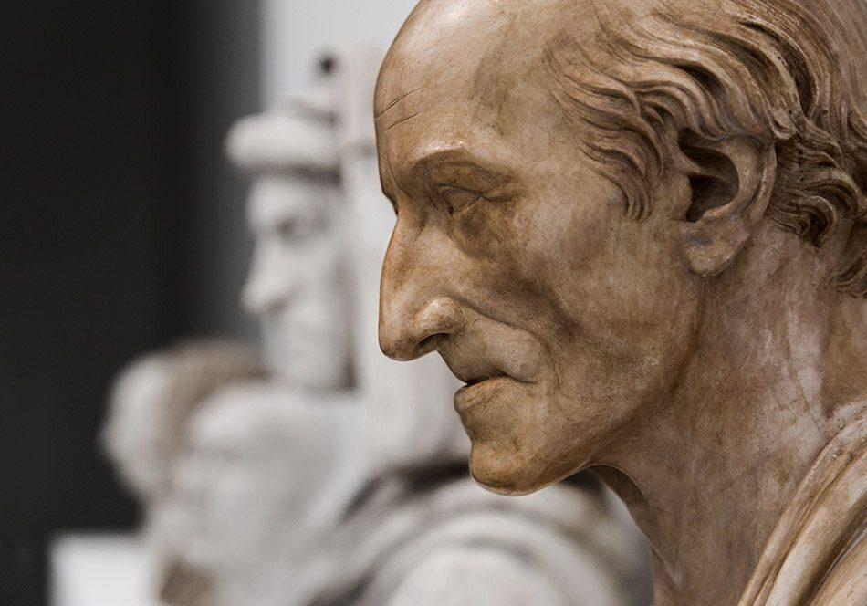 Ausstellung Nah, am Leben, 200 Jahre Gipsformerei, James-Simon-Galerie, Johann Gottfried Schadow, Portrait of Carl Christian Friedrich Fasch