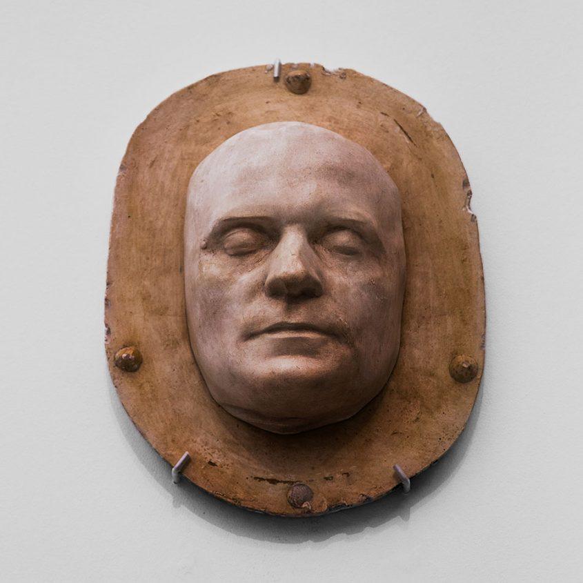 Ausstellung Nah, am Leben, 200 Jahre Gipsformerei, James-Simon-Galerie, Totenmaske Gotthold Ephraim Lessing