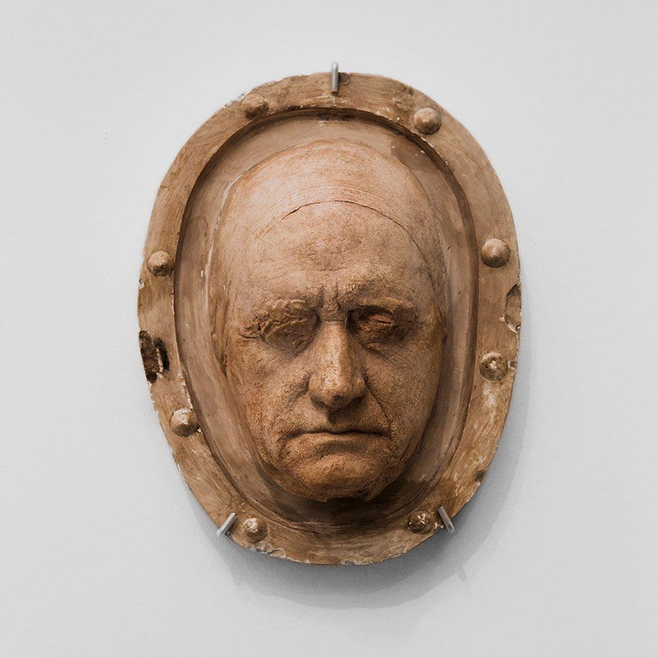 Ausstellung Nah, am Leben, 200 Jahre Gipsformerei, James-Simon-Galerie, Totenmaske Goethe