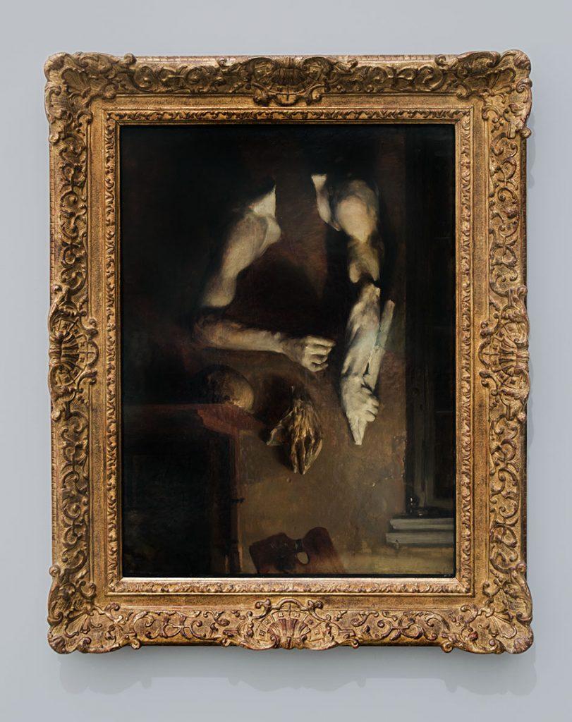 Ausstellung Nah, am Leben, 200 Jahre Gipsformerei, James-Simon-Galerie, Adolph Menzel, Atelierwand