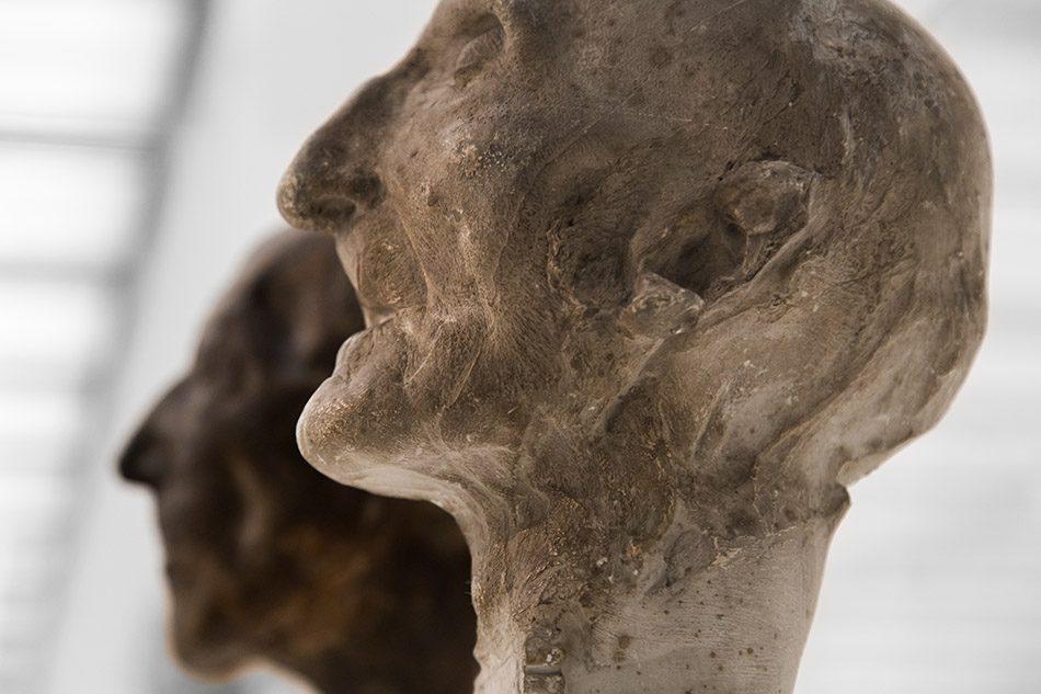 Ausstellung Nah, am Leben, 200 Jahre Gipsformerei, James-Simon-Galerie, Totenmaske Johann Gottfried Schadow