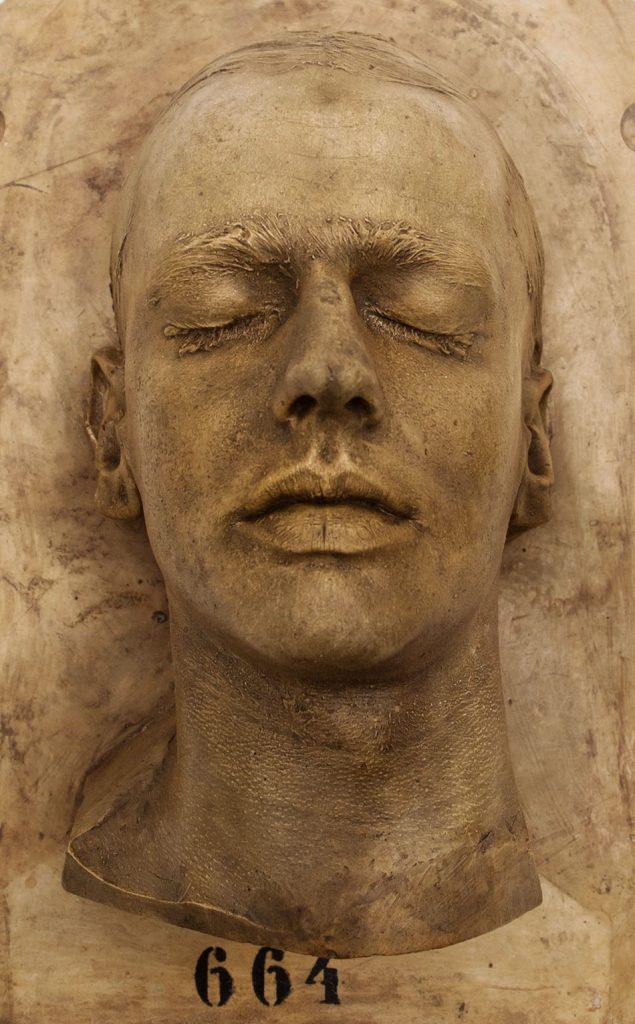 Ausstellung Nah, am Leben, 200 Jahre Gipsformerei, James-Simon-Galerie, Männderkopf, Lebendabformung