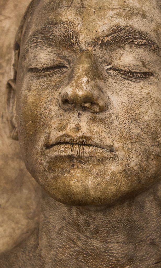 Ausstellung Nah, am Leben, 200 Jahre Gipsformerei, James-Simon-Galerie, Männderkopf, Lebendabguss