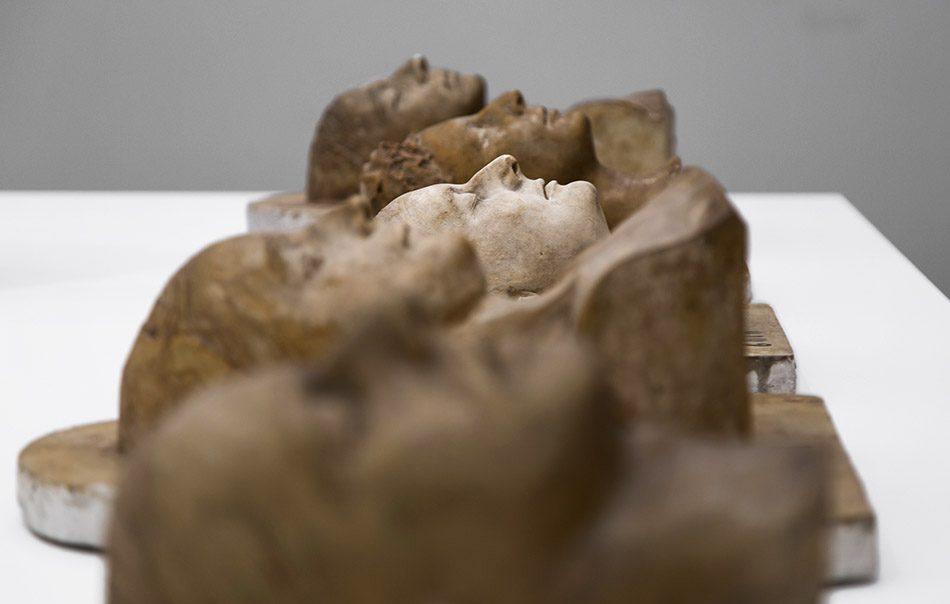 Ausstellung Nah, am Leben, 200 Jahre Gipsformerei, James-Simon-Galerie, Köpfe., Lebendabformungen