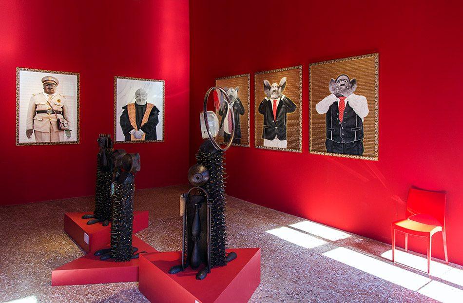 Fabian Fröhlich, Venedig, Biennale di Venezia, Palazzo Mora, Mozambique Pavilion, Gonzalo Mabunda, The architect of the circle / Filipe Branquinho, The three defendants