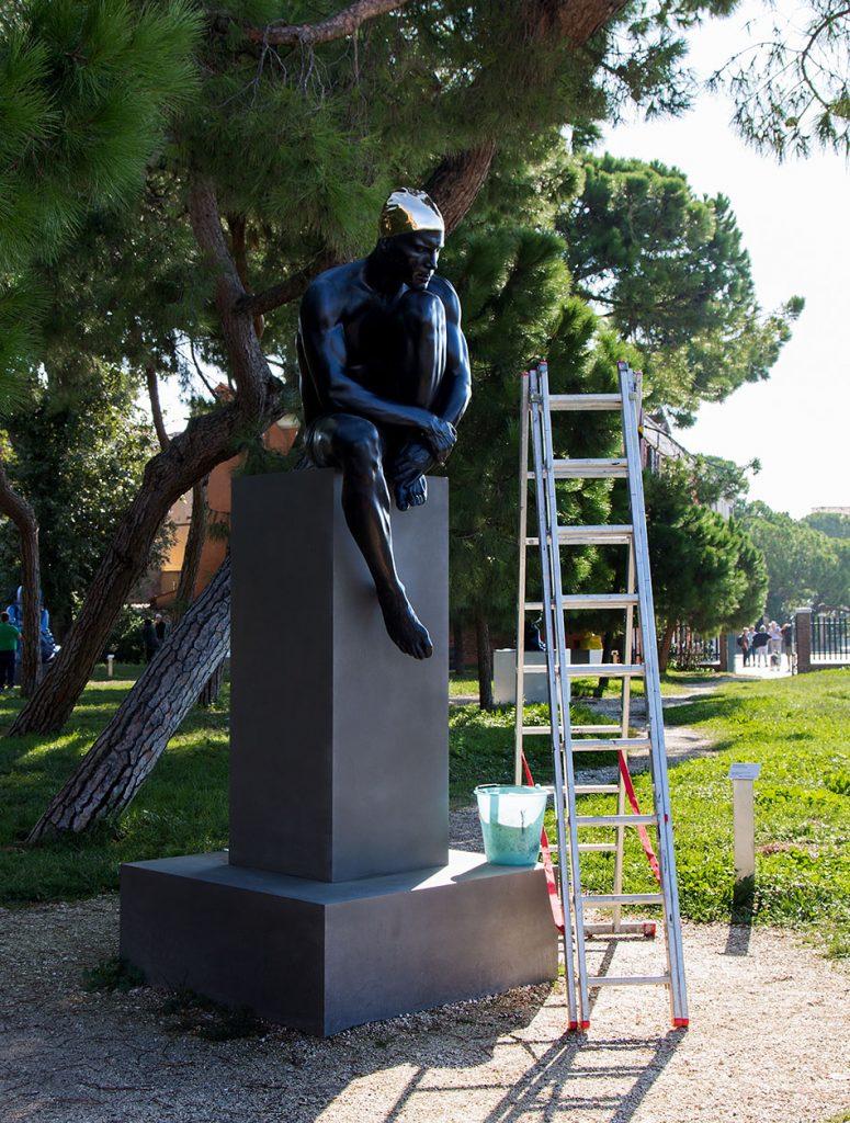 Fabian Fröhlich, Venice, Giardini della Marinaressa, Personal Structures, Carol Feuerman, The Thinker