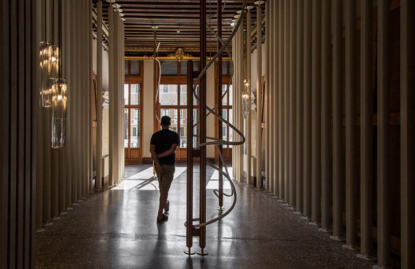 Fabian Fröhlich, Venedig, Biennale di Venezia, Portugal Pavilion, Leonor Antunes, a seam, a surface, a hinge or a knot
