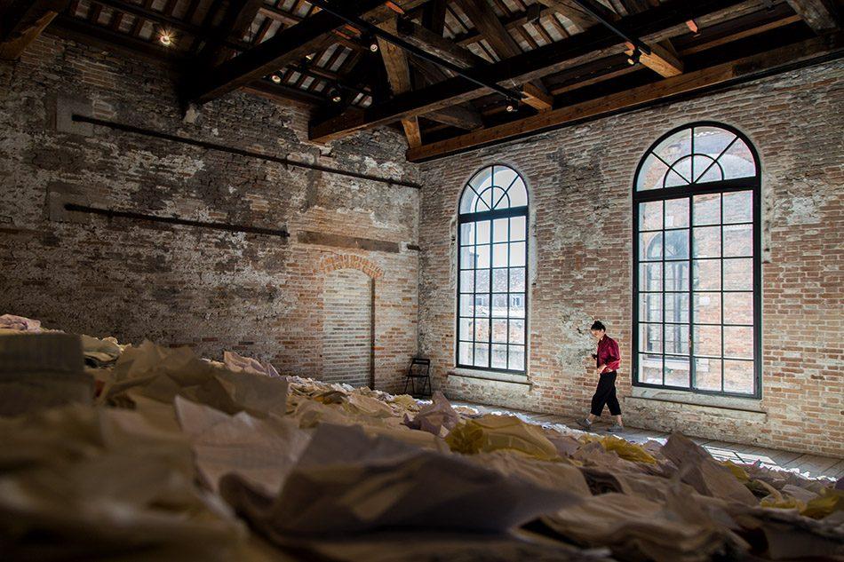 Fabian Fröhlich, Biennale di Venezia 2019, Arsenale, Luxembourg Pavilion, Marco Godinho, Written by Water