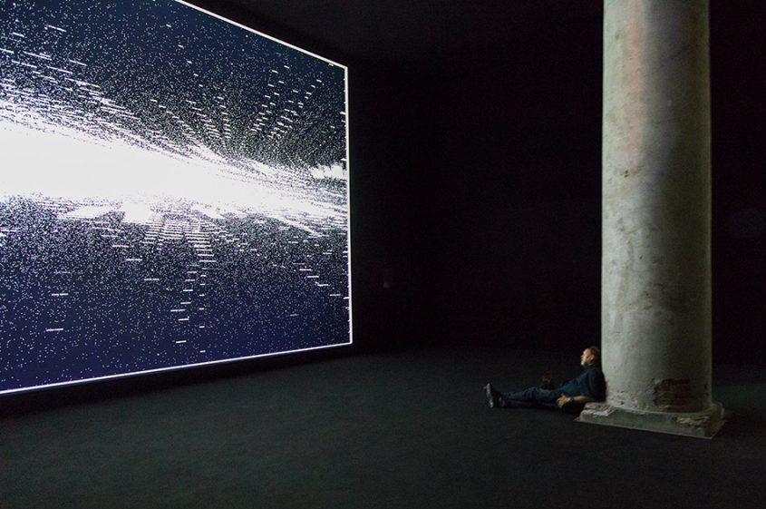 Fabian Fröhlich, Biennale di Venezia 2019, Arsenale, Central exhibition, Ryoji Ikeda, code-verse
