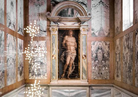 Fabian Fröhlich, Galleria Giorgio Franchetti alla Ca' d'Oro, Andrea Mantegna, St. Sebastian / Studio Drift, Fragile Future