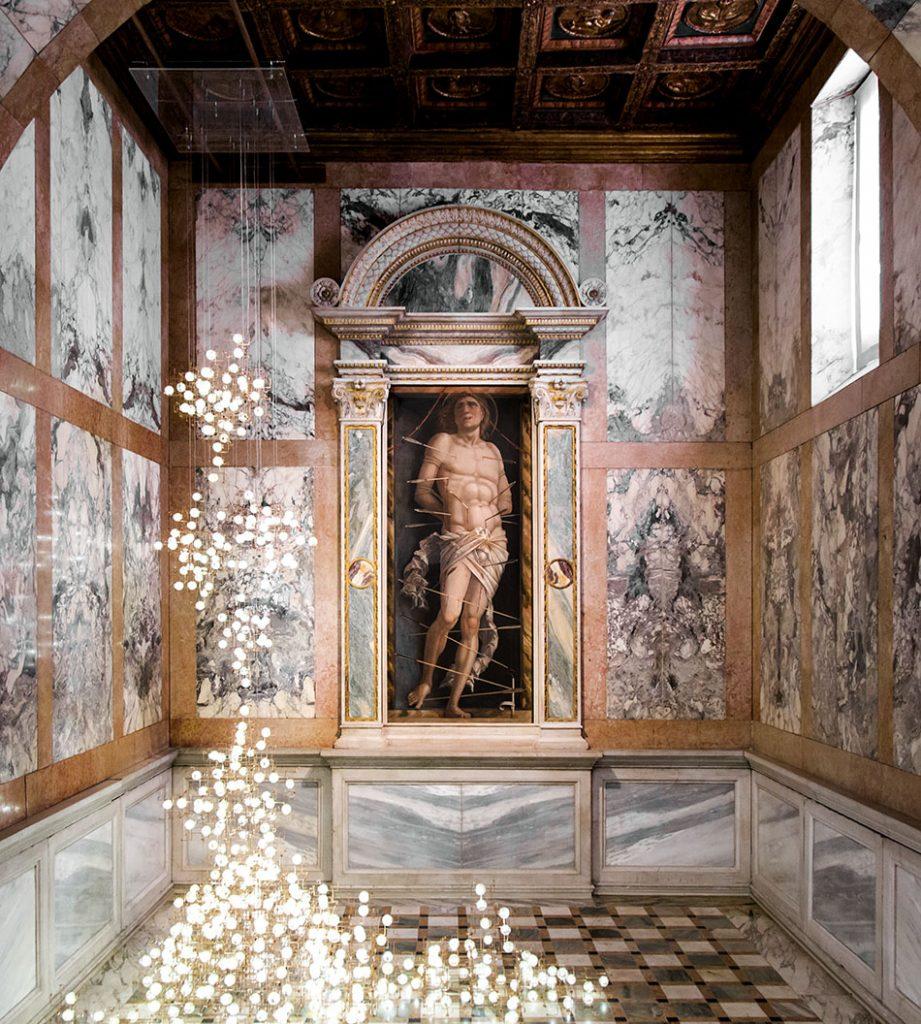 Fabian Fröhlich, Venedig, Galleria Giorgio Franchetti alla Ca' d'Oro, Andrea Mantegna, San Sebastiano / Studio Drift, Fragile Future