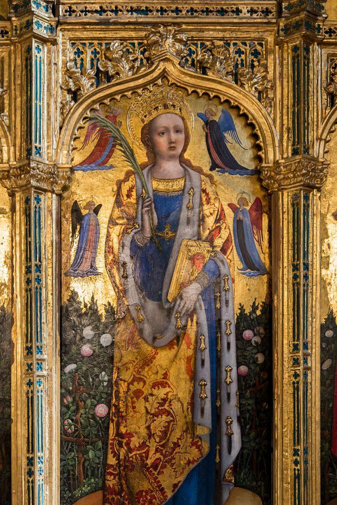 Fabian Fröhlich, Venedig, Chiesa di San Zaccaria, Cappella di San Tarasio, triptych of St. Sabina