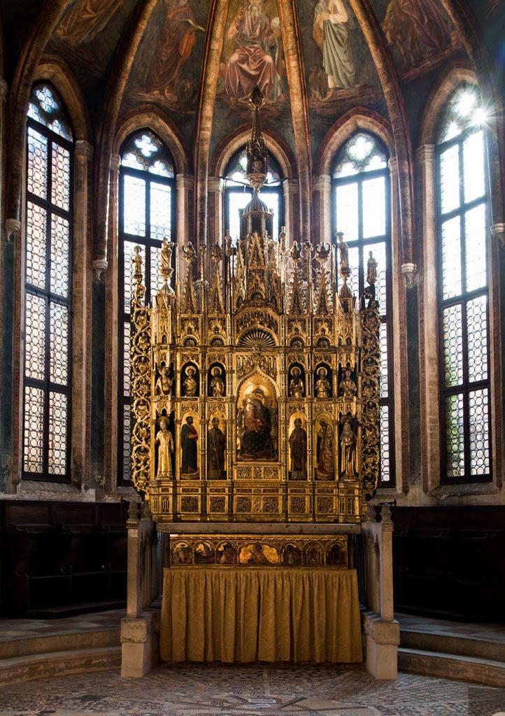 Fabian Fröhlich, Venedig, Chiesa di San Zaccaria, Cappella di San Tarasio, altarpiece by Antonio Vivarini and Giovanni d'Alemagna