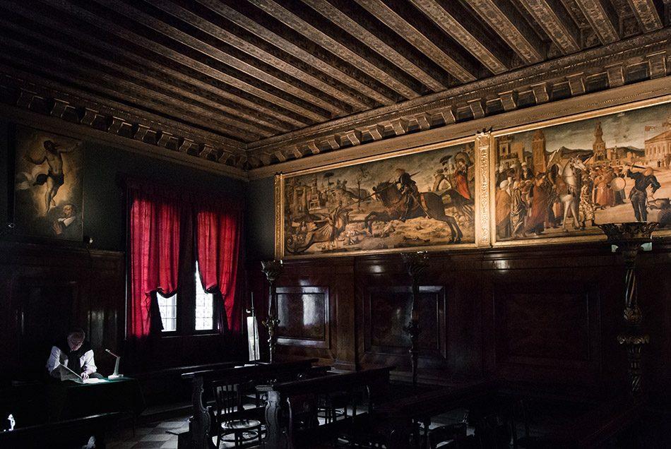 Fabian Fröhlich, Venedig, Scuola di San Giorgio degli Schiavoni, ground floor (Vittore Carpaccio, St Georg paintings)