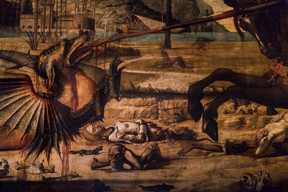 Fabian Fröhlich, Venedig, Scuola di San Giorgio degli Schiavoni, grund floor (Vittore Carpaccio, St Georg and the Dragon)