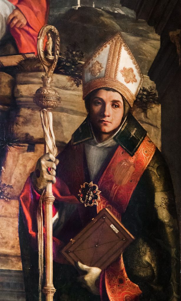 Fabian Fröhlich, Venedig, Cannaregio, San Giovanni Grisostomo, Giovanni Bellini, Saints Christopher, Jerome and Louis of Toulouse