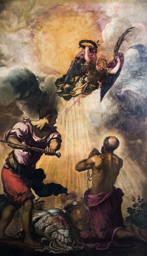 Fabian Fröhlich, Venedig, Santa Maria dell' Orto, Tintoretto, Enthauptung von St Paulus