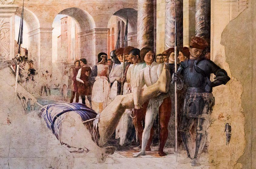 Fabian Fröhlich, Padova, Chiesa degli Eremitani, Andrea Mantegna, Martirio e trasporto di san Cristoforo