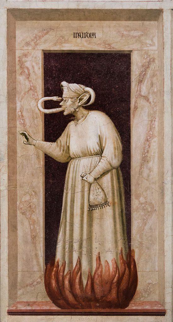 Fabian Fröhlich, Padova, Cappella degli Scrovegni, Cappella degli Scrovegni, Giotto di Bondone, Envy