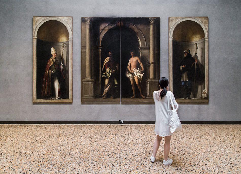 Gallerie dell'Accademia di Venezia, del Piombo, San Bartolomeo, San Sebastiano, San Ludovico da Tolosa, San Sinibaldo