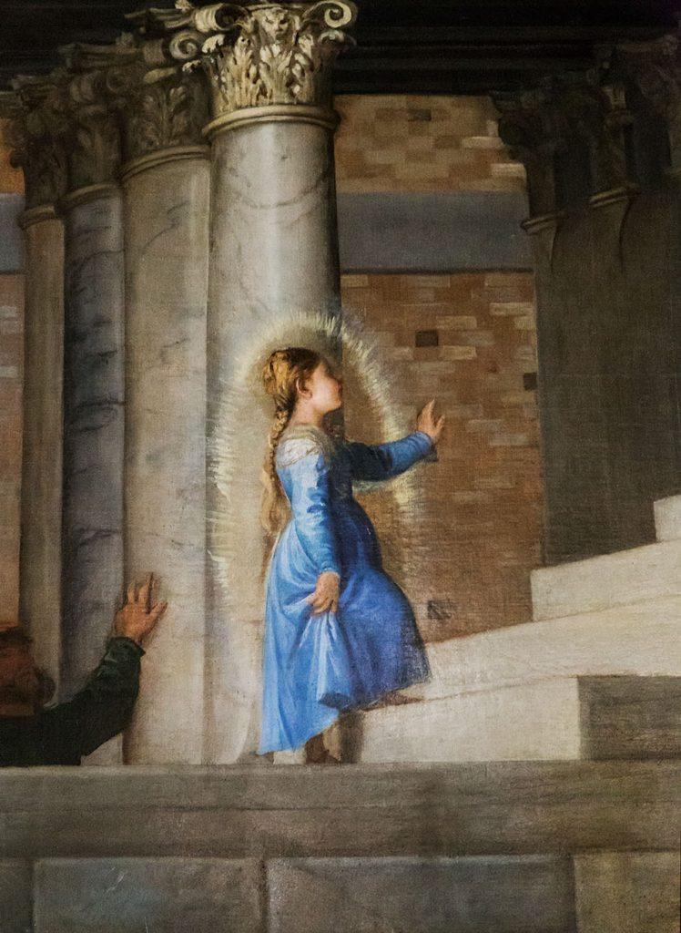 Gallerie dell'Accademia di Venezia,, Tiziano, La presentazione della Vergine al Tempio con i confratelli della Scuola Grande della Carità