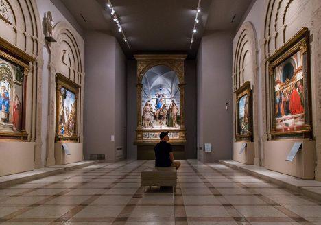 Fabian Fröhlich, Vicenza, Museo civico di Palazzo Chiericati, Bartolomeo Montagna, Madonna il Bambino tra santi e tre angeli musici
