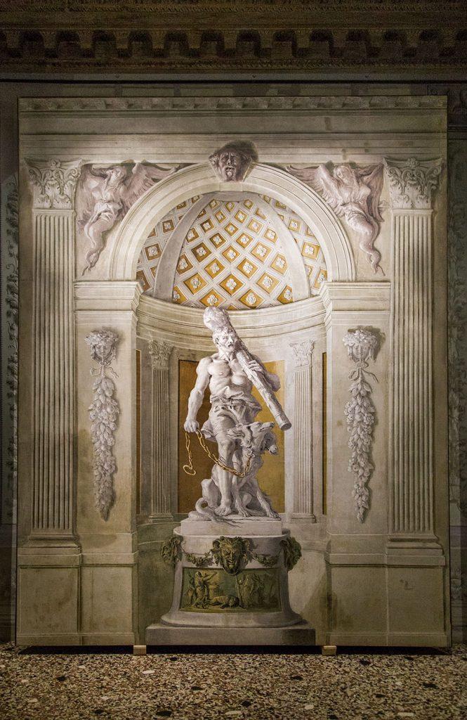 Fabian Fröhlich, Vicenza, Palazzo Barbaran da Porto (Museo Palladio), Giandomenico Tiepolo, Hercules with chained Cerberus