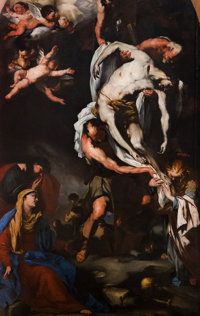 Fabian Fröhlich, Vicenza, Chiesa di san Lorenzo, Luca Giordano, The Deposition of Christ (workshop copy)