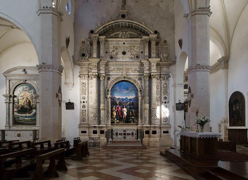 Fabian Fröhlich, Vicenza, Chiesa di Santa Corona, Garzadori altar with the Baptism of Christ by Giovanni Bellini