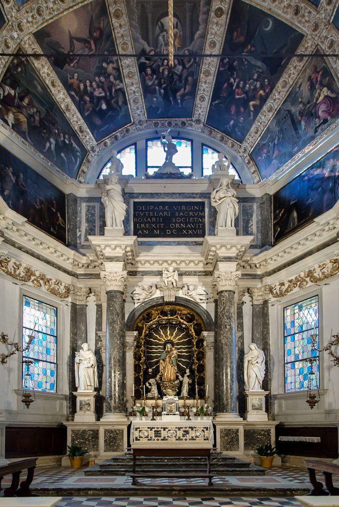 Fabian Fröhlich, Vicenza, Chiesa di Santa Corona, Cappella della Vergine del Rosario