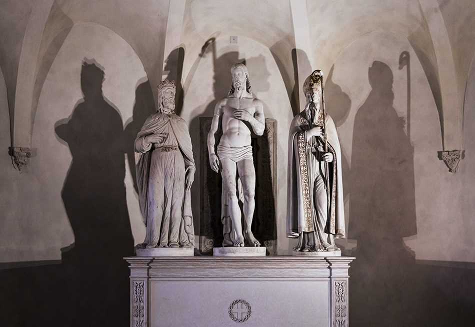 Fabian Fröhlich, Vicenza, Chiesa di Santa Corona, Crypt, Christ with Saint Louis and Blessed Bartholomew