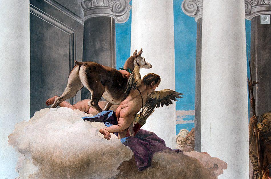 Fabian Fröhlich, Vicenza, Villa Valmarana ai Nani, Sala di Ifigenia (The Sacrifice of Iphigenia by Giovanni Battista Tiepolo)