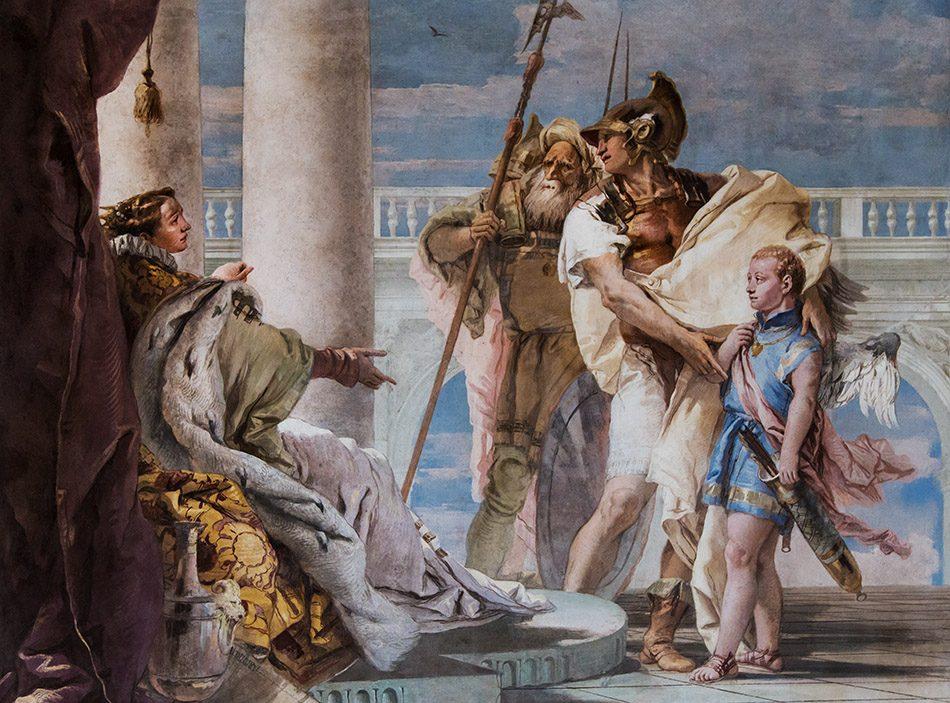 Fabian Fröhlich, Vicenza, Villa Valmarana ai Nani, Sala dell'Eneide (Aeneas Introducing Cupid Dressed as Ascanius to Dido by Giovanni Battista Tiepolo)