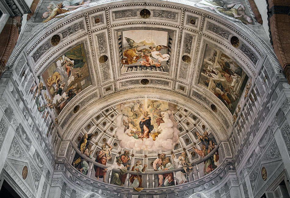 Fabian Fröhlich, Verona, Duomo, Cattedrale di Santa Maria Matricolare, Capella Maggiore ith fresco by Francesco Torbido