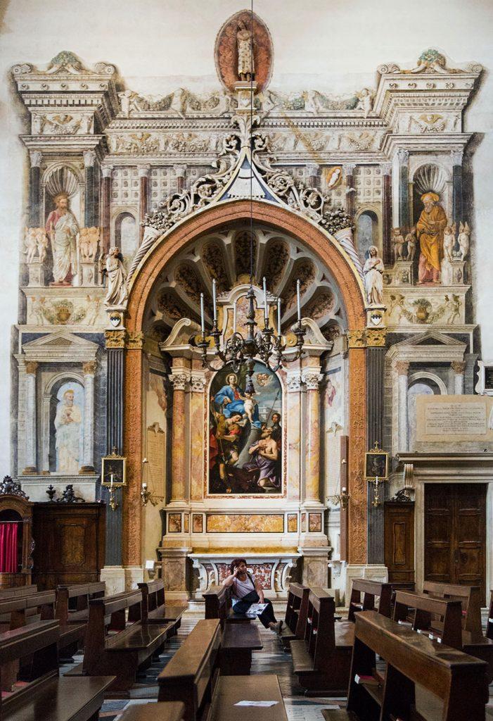 Fabian Fröhlich, Verona, Duomo, Cattedrale di Santa Maria Matricolare, Cappella Cartolari, with St. Michael, St. George and St. Girolamo by Michelangelo Prunati