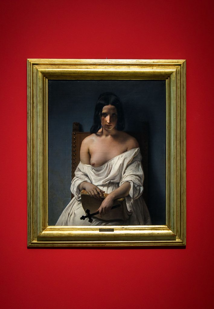 Fabian Fröhlich, Verona, Galleria d'Arte Moderna Achille Forti, Francesco Hayez, Meditation