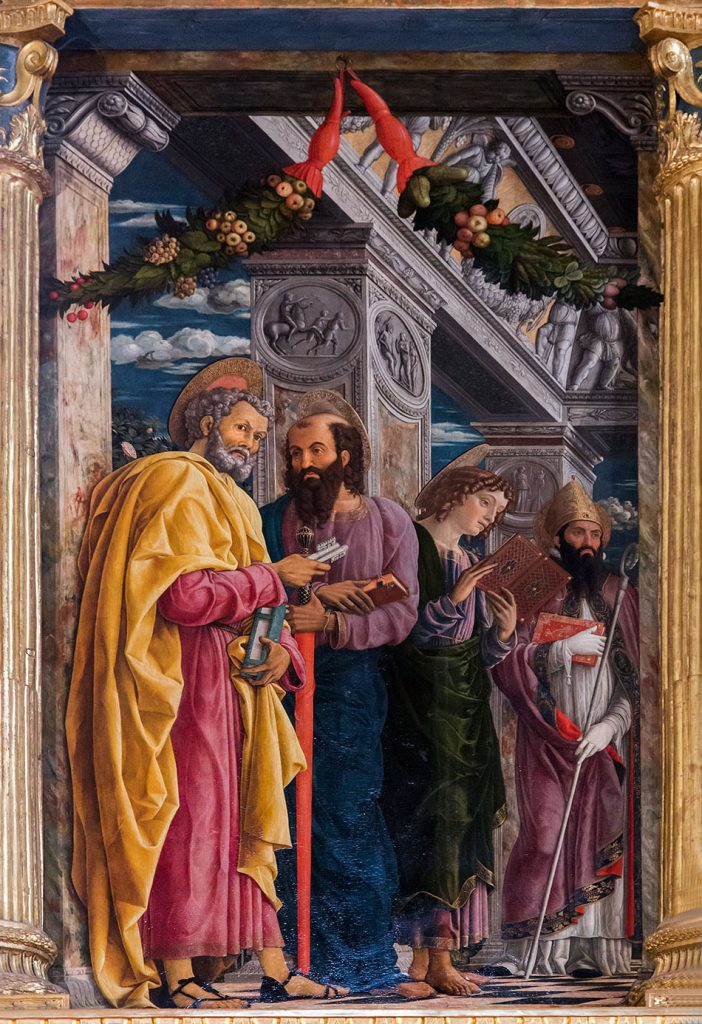 Fabian Fröhlich, Verona, Basilica di San Zeno Maggiore (Saints Peter, Paul, John the Evangelist and Zeno)