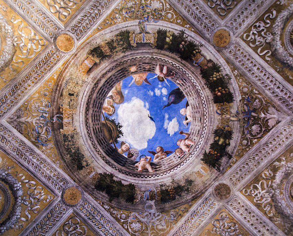 Fabian Fröhlich, Mantova, Palazzo Ducale, Castello die San Giorgio, Camera degli Sposi, Ceiling fresco by Andrea Mantegna
