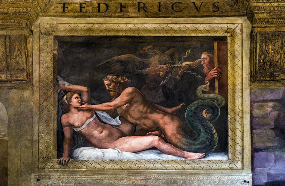 Fabian Fröhlich, Mantova, Palazzo Te, Chamber of Cupid and Psyche, Jupiter