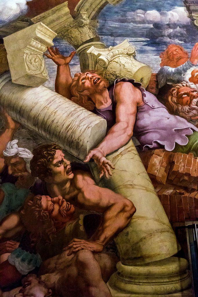 Fabian Fröhlich, Mantova, Palazzo Te, Camera dei Giganti with fresco Fall of the Giants by Giulio Romano