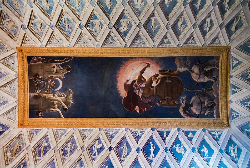 Fabian Fröhlich, Mantova, Palazzo Te, Palazzo Te, Camera del Sole e della Luna, ceiling fresco attributed to Francesco Primaticcio