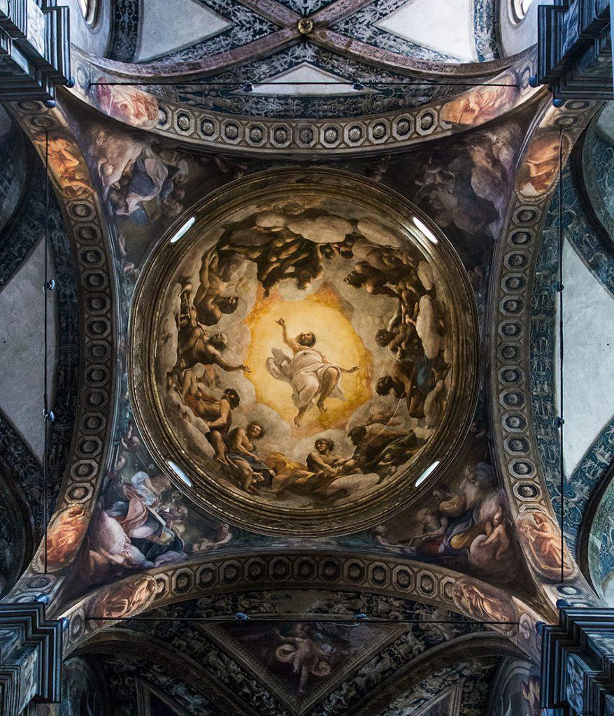 Fabian Fröhlich, Parma, San Giovanni Evangelista, Vision of St. John on Patmos by Corregio