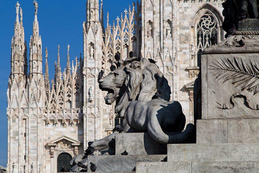 Fabian Fröhlich, Duomo die Milano, Statue of Vittorio Emanuele II and Duomo die Milano