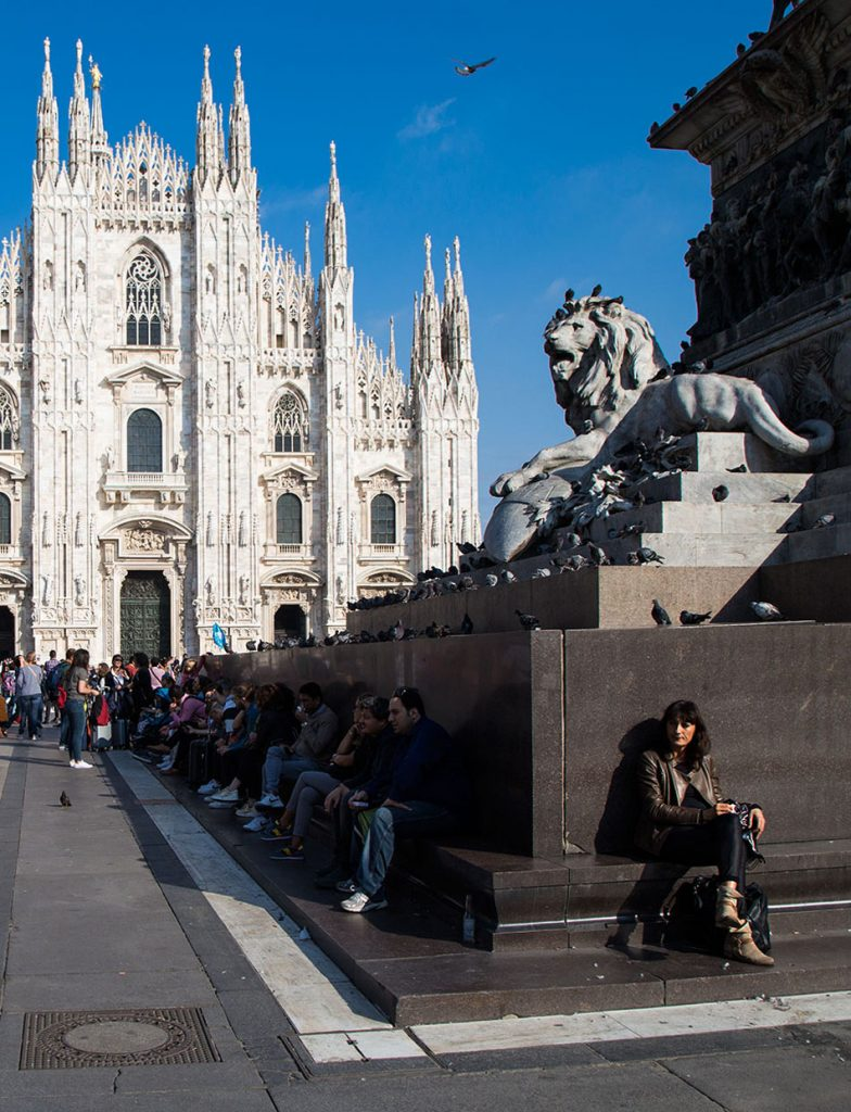 Fabian Fröhlich, Statue of Vittorio Emanuele II and Duomo die Milano