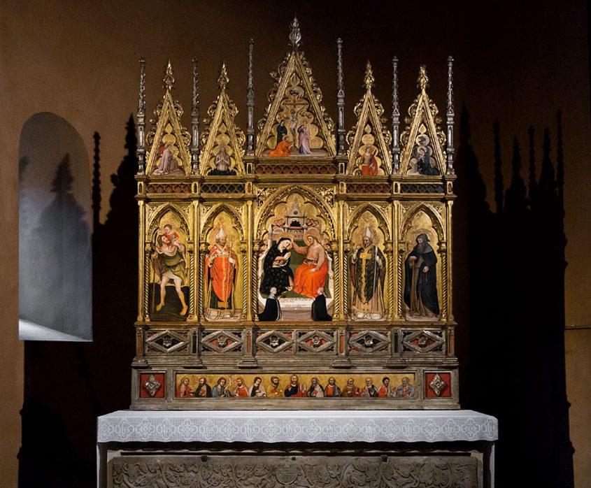 Fabian Fröhlich. Duomo di Parma, Serafino de' Serafini, Polyptych with the Coronation of the Virgin and Saint